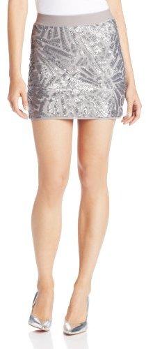 BCBGMAXAZRIA Women's Paxton Deco Sequins Applique Mini Skirt