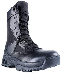 """Ridge Footwear Men's AIR-TAC Ghost with Zipper 8"""" Leather Boot Rip-Stop Nylon"""