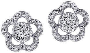 Affinity Diamond Jewelry Affinity 14K 1/2 cttw Diamond Floral Stud Earrings
