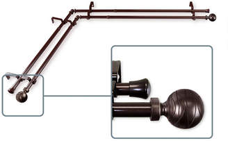 Arman Rod Desyne Double Corner Curtain Rod 13/16 inch dia 28-48 inch