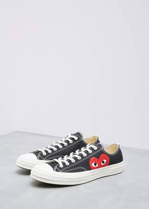 Comme des Garcons Low Top Converse Chuck Taylor in Black