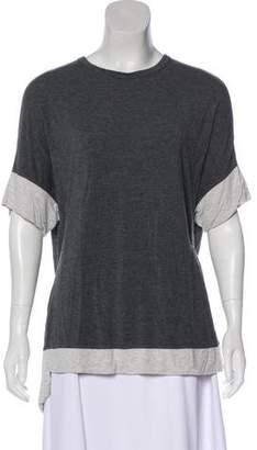 Isaac Mizrahi Two-Tone Short Sleeve T-Shirt