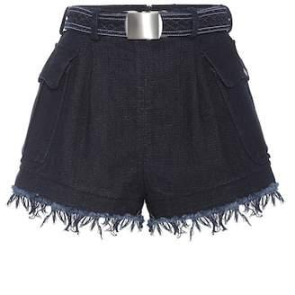 Philosophy di Lorenzo Serafini Belted cotton shorts