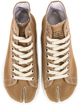 Maison Margiela High Top Canvas Sneakers in Cumin | FWRD