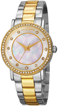 Akribos XXIV Womens Two Tone Bracelet Watch-A-880ttg
