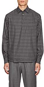 Barena Venezia Men's Checked Cotton Long-Sleeve Shirt - Black