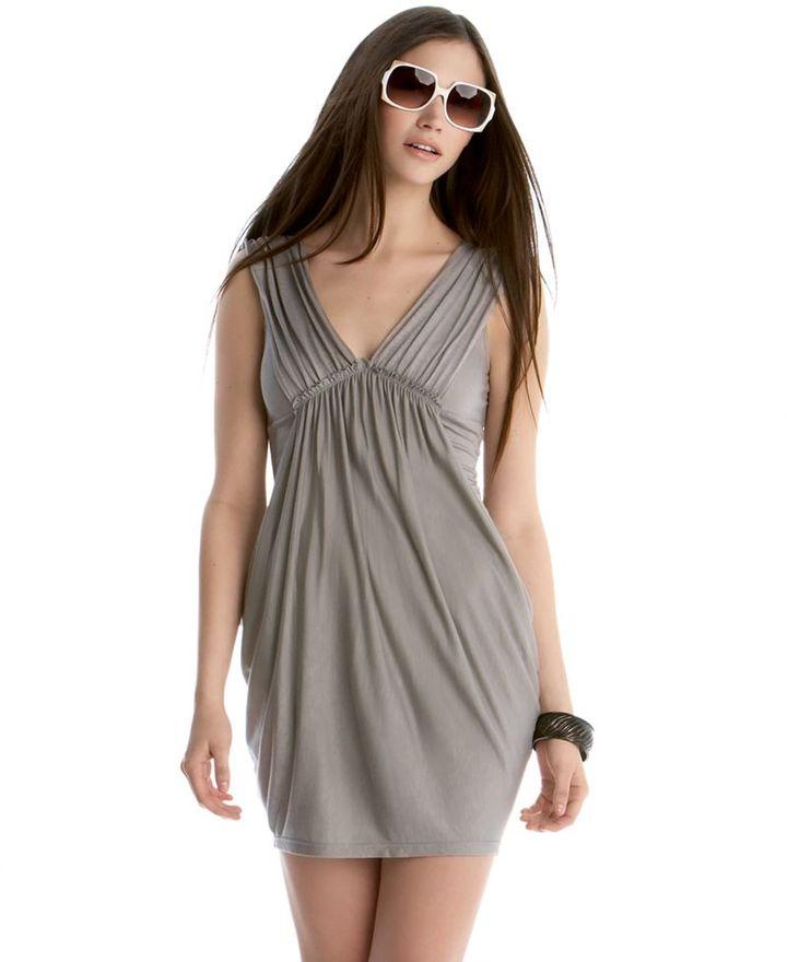 Soprano Dress, V-Neck Ruched