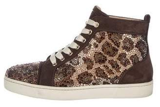 Christian Louboutin Strass High-Top Sneakers