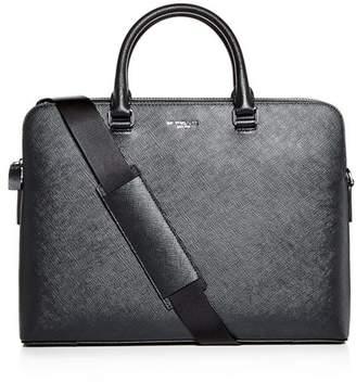Michael Kors Harrison Crossgrain Leather Briefcase