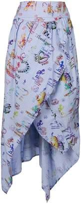 Vivienne Westwood printed asymmetric midi skirt