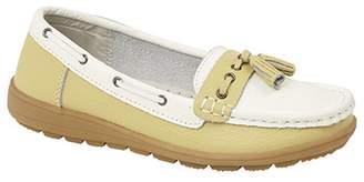 Boulevard Womens/Ladies Saddle/Tassle Boat Shoes
