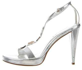 Rodo Metallic T-Strap Sandals