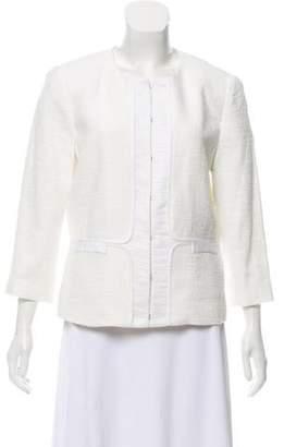 T Tahari Structured Collarless Jacket