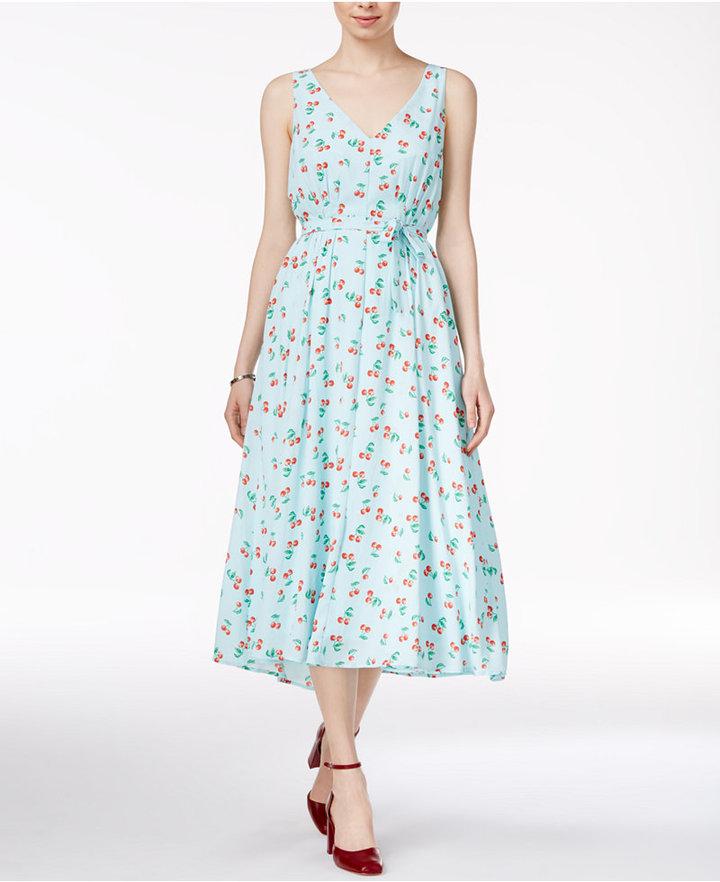 Maison Jules Cherry-Print Midi Dress, Only at Macy's