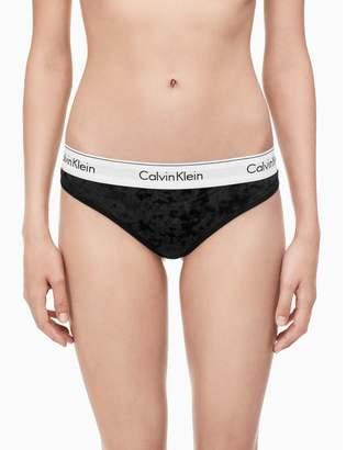 Calvin Klein modern cotton velvet tanga