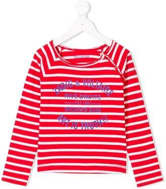 Zadig & Voltaire Kids logo printed breton top