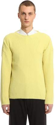 Our Legacy Merino Wool Blend Rib Knit Sweater