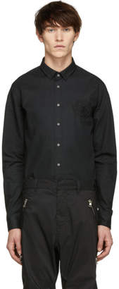 Balmain Black Embroidered Medallion Shirt