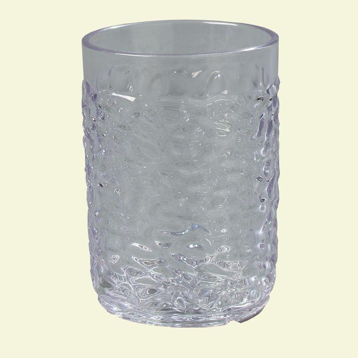 Carlisle 5 oz. SAN Plastic Pebble Optic Tumbler in Clear (Case of 24)