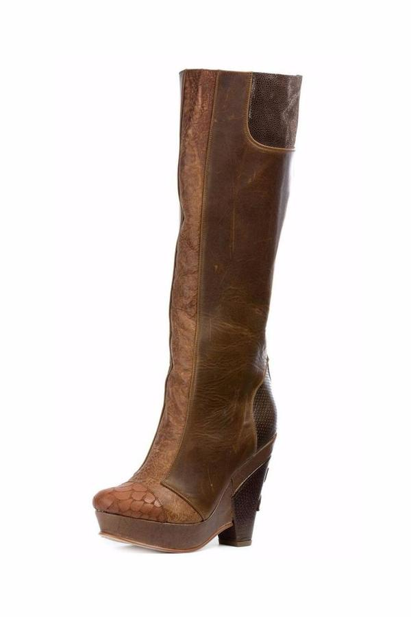 Altura Siete Brown Platform Long-Boots