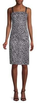 Moschino Leopard-Print Sheath Dress