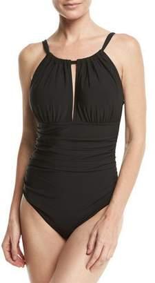 Magicsuit Katrina High-Neck One-Piece Swimsuit, Black, Plus Size $182 thestylecure.com