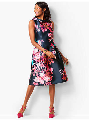 Talbots Autumn Floral Fit & Flare Dress