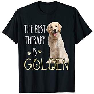 Golden Retriever The Best Therapy Is Dog T-Shirt