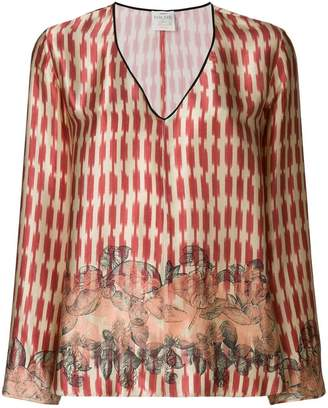 Forte Forte printed V-neck blouse