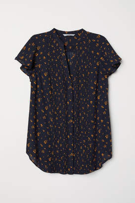 H&M Blouse with Pin-tucks - Blue