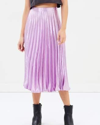 Missguided Pleated Full Midi Skirt
