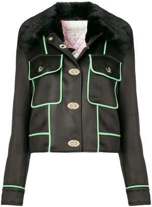 Emilio Pucci cropped pockets embellished jacket