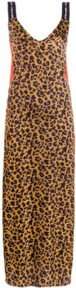 Marcelo Burlon County of Milan long leopard print dress