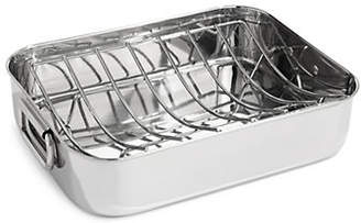 ESSENTIAL NEEDS Rectangular Stainless Steel Roaster Pan with Rack