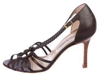 Manolo Blahnik Braided Leather Sandals