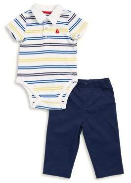 Little Me Baby Boy's Two-Piece Stripe Bodysuit and Pants Set