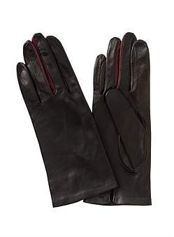 Kate & Confusion Leather Glove With Contrast Finger