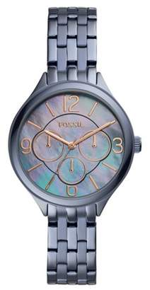 Fossil Suitor Multifunction Steel Blue Stainless Steel Watch Jewelry