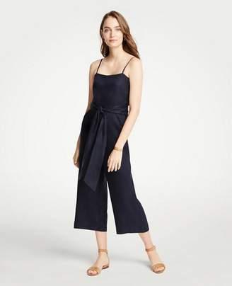 Ann Taylor Petite Strappy Tie Waist Jumpsuit