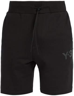 Y-3 Logo-print drawstring-waist cotton shorts
