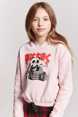 Forever 21 Girls Panda Graphic Hoodie (Kids)