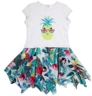 Catimini Little Girl's & Girl's Pineapple Printed Dress