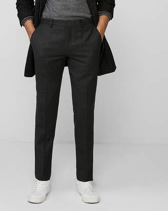 Express Extra Slim Heathered Wool Flannel Dress Pant