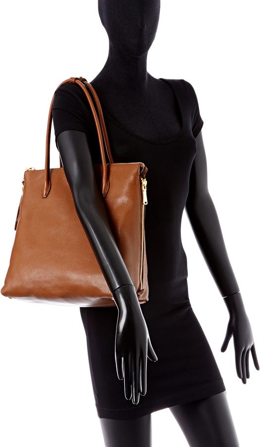 Miu Miu Leather Zipped Side Tote