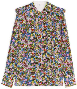 Arket Floral Silk Shirt