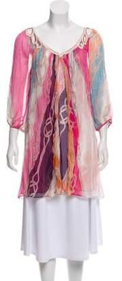 Diane von Furstenberg Silk Nobi Swim Tunic