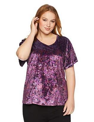 Lucky Brand Women's Plus Size Printed Velvet TOP