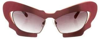 Prabal Gurung x Linda Farrow Cat-Eye Tinted Sunglasses