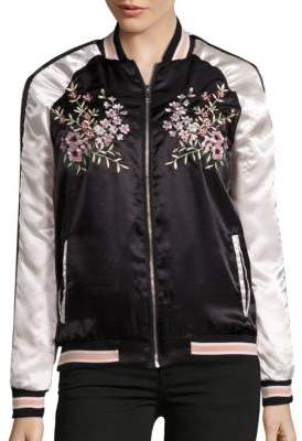 Embroidered Bomber Jacket $129.99 thestylecure.com