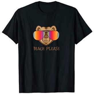 Beach Please Bear With Sunglasses Shirt
